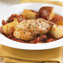 Tuscan Chicken and Potatoes for Two  