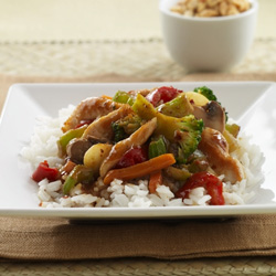 Thai-Style Chicken Stir-Fry for Two