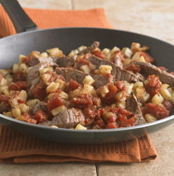 Beef and Potato Skillet for Two