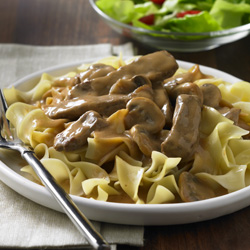 Quick Beef Stroganoff for Two