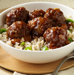 Hawaiian Meatballs and Rice Recipe