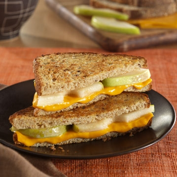 Grilled Cheese and Pear Sandwiches for Two