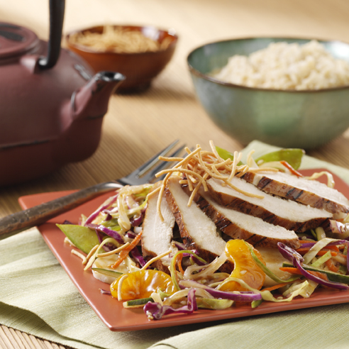 Asian Slaw with Teriyaki Chicken