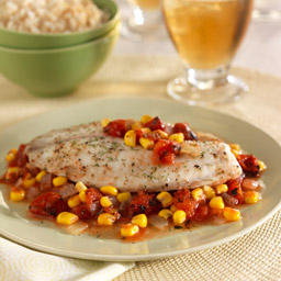 Tilapia with Corn and Tomatoes for Two