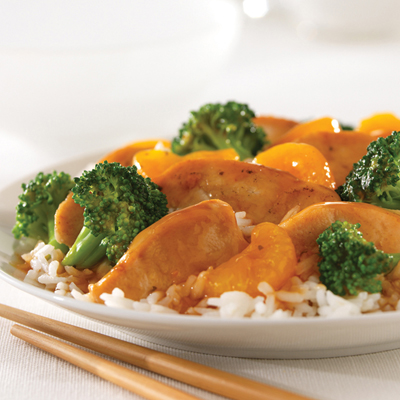 Mandarin Chicken with Broccoli for Two