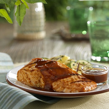 Salmon with Curried Orange Sauce for Two