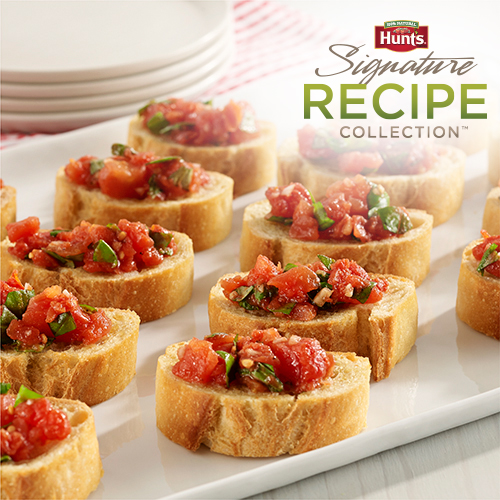 Hunt's® Easy Tomato Bruschetta Recipe