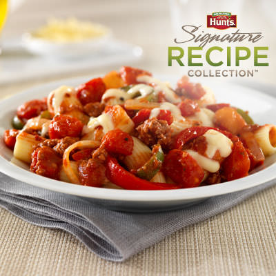Hunt's® Beef Rigatoni Arrabbiata Recipe
