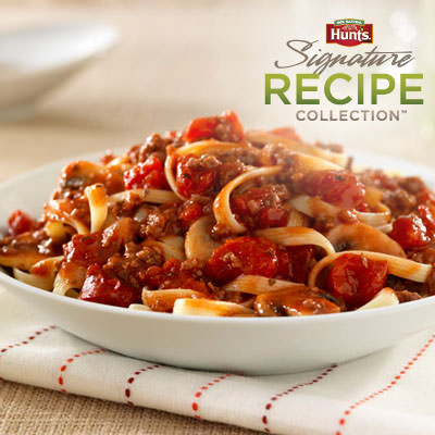 Hunt's® Beef and Mushroom Bolognese Recipe