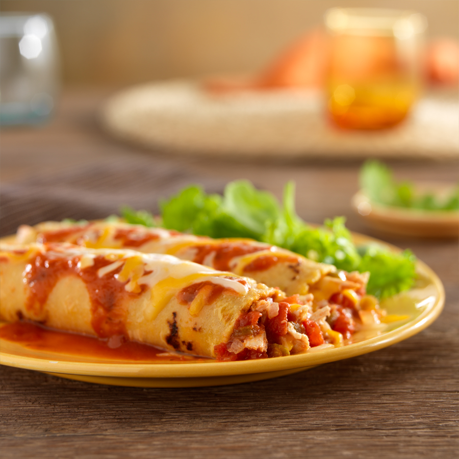 Spicy Chicken Enchiladas - Recipe | ReadySetEat
