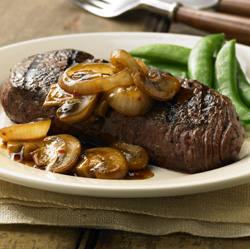 Grilled Steak with Teriyaki Mushrooms