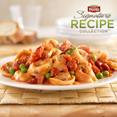 Hunt's® Tomato and Bacon Tortellini Recipe