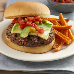 Zesty Salsa Burgers - Recipes - ReadySetEat
