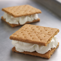 Frozen Cream-Filled Graham Cracker Sandwiches