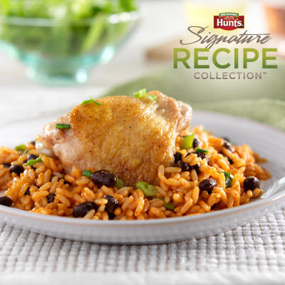 Hunt's® Arroz con Pollo y Frijoles Negros Recipe