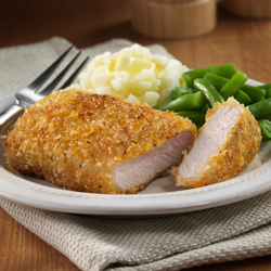 Mustard-Breaded Pork Chops