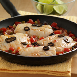 South-of-the-Border Cod Skillet for Two