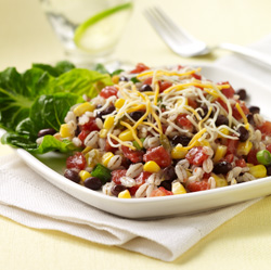 Spicy Barley and Black Bean Salad for Two
