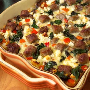 Sausage, Mushrooms, And Feta Baked With Eggs Recipes — Dishmaps