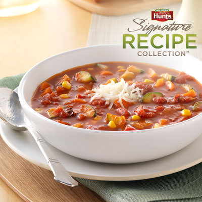 Hunt's® Fire-Roasted Tomato Vegetable Soup Recipe