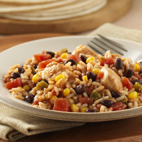 Fiesta Chicken with Rice and Beans