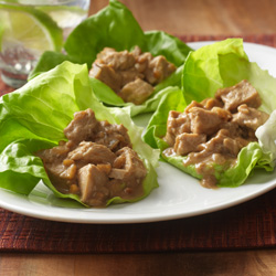 Leftover Turkey Lettuce Wraps