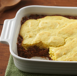 Turkey Sloppy Joe Cornbread Bake