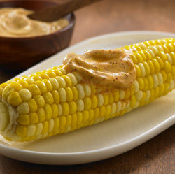 Corn on the Cob with BBQ Spread