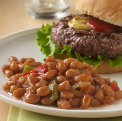 Quick Stovetop Pork and Beans