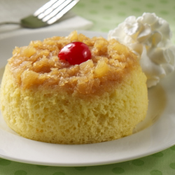 Pineapple Upside Down Mug Cakes Recipe