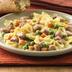 Salteado de Corned Beef y Pasta