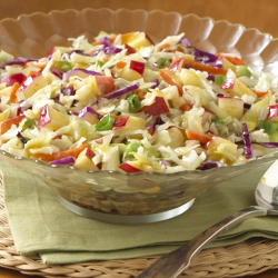 Apple Slaw with Honey Mustard Vinaigrette