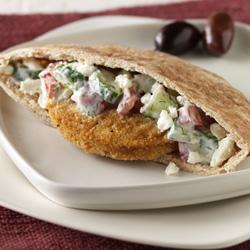 Pollo en Pan Pita a la Griega