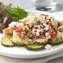 Zucchinis Asados a la Griega