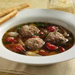 Sopa de Albóndigas Estilo Italiano