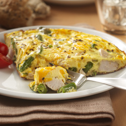 Frittata de Sobras de Pavo