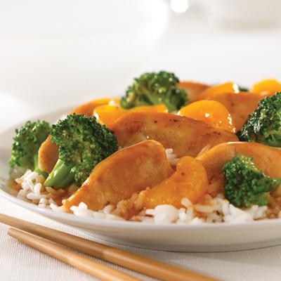 Pollo con Mandarina y Brócoli