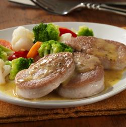 Cerdo y Vegetales con Salsa de Miel y Mostaza