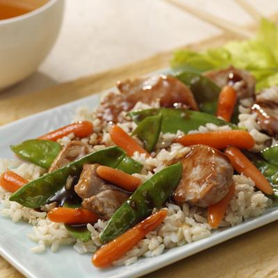 Barbacoa de Cerdo y Vegetales al Estilo de Sichuan