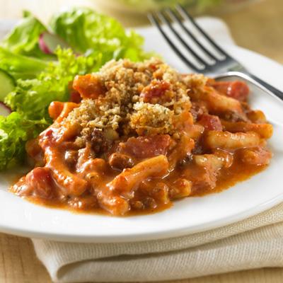 Creamy Italian Beefaroni Casserole Recipe