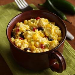 Huevos Revueltos al estilo Mexicano hechos en taza