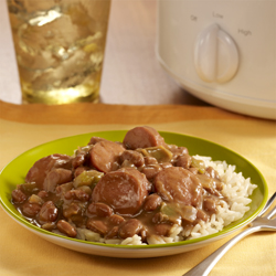 Cajun Slow Cooker Beans with Rice