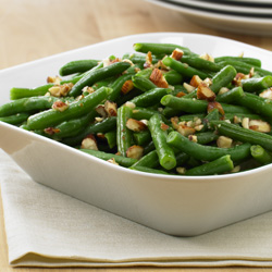 Habichuelas Verdes (Ejotes, Green Beans) con Almendras