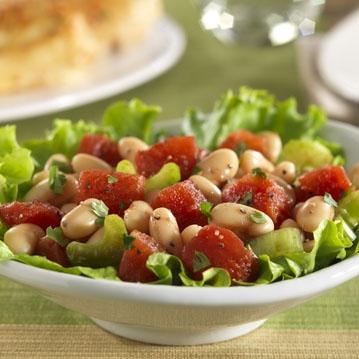 Ensalada de Frijoles Blancos y Tomate