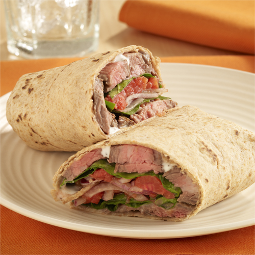 Blue Cheese Steak Wraps Recipe