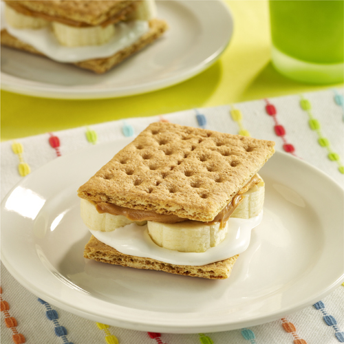 Peanut Butter and Banana 'S'mores'