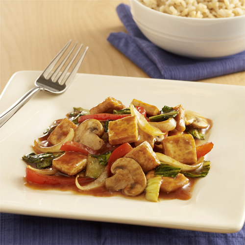 Salteado de Col China (Bok Choy) y Tofu