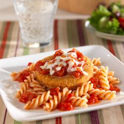 Pollo Empanizado a la Parmesana con Pasta
