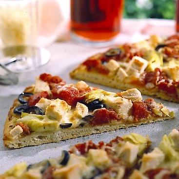 Pizza de Pavo y Alcachofas