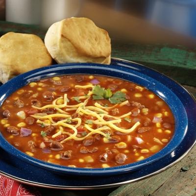 Sopa Estilo 'Chowder' con Chili y Maíz